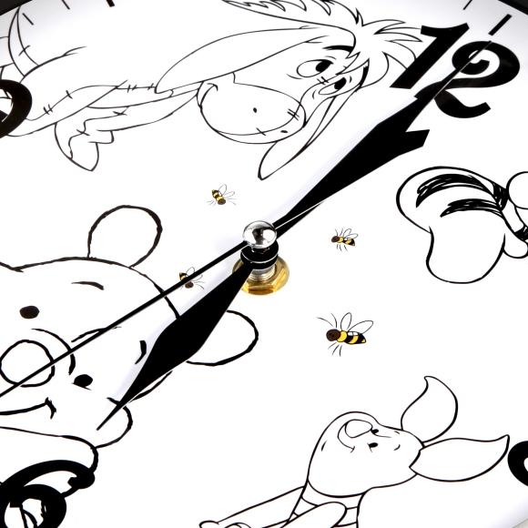 disney/迪士尼小熊维尼金属边框童趣静音挂钟(8寸)