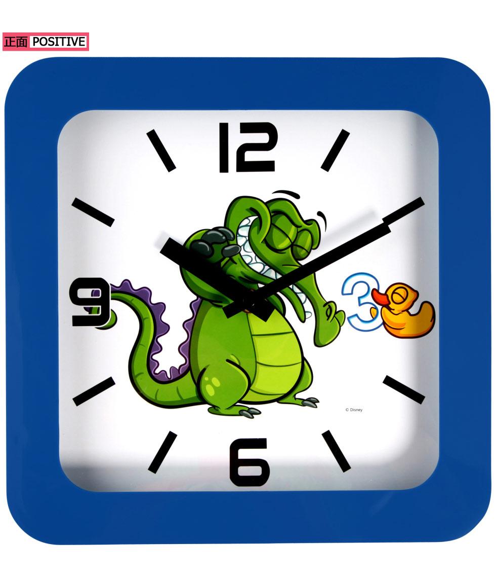disney/迪士尼鳄鱼小顽皮卡通方形童趣静音挂钟(8寸)